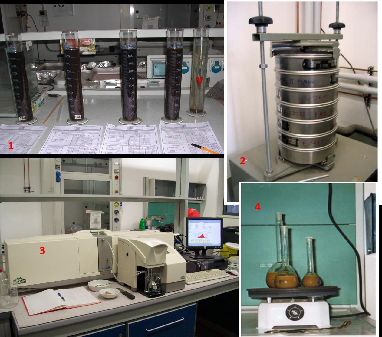setacci,  densiemtri e granulometro laser