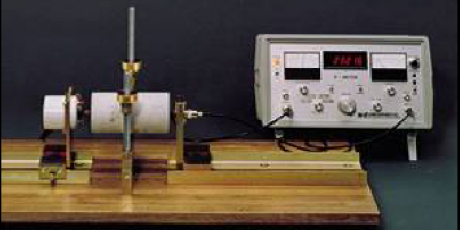 V-meter to determine P waves and S waves velocities and resonant frequency